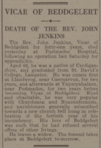 rev john jenkins death 1939