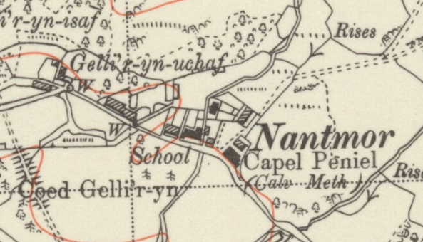 O.S. Map of Nantmor published in 1953