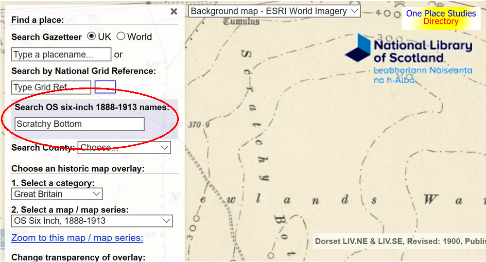 NLS Maps: new place name search