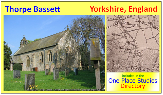Thorpe Bassett One Place Study Yorkshire